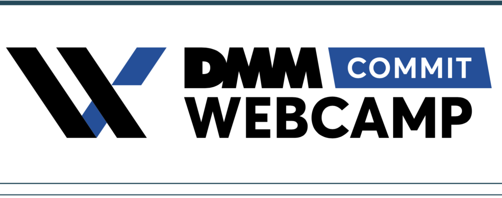 DMM WEBCAMP COMMITのロゴ